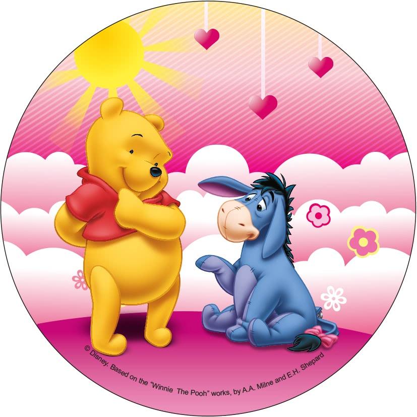 Tortenaufleger Esspapier  - Winnie Pooh Motiv 4