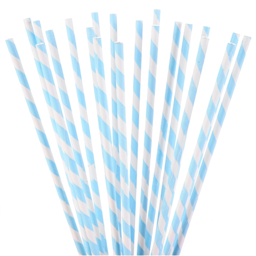 Modecor Cake Pop Sticks - Blau-weiß gestreift