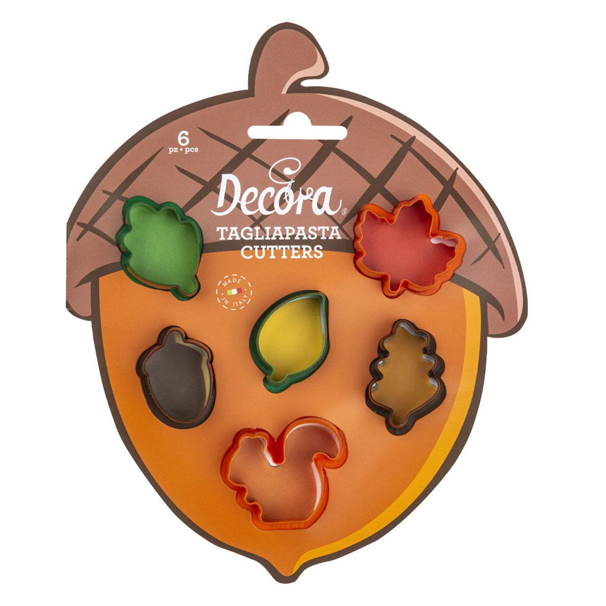 Decora Kunststoff Ausstecherset - Mini Herbstlaub 6tlg