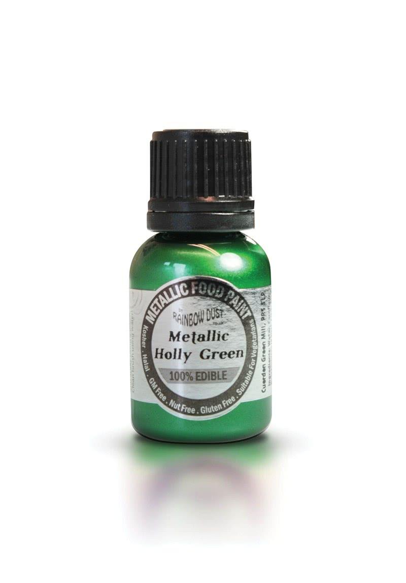RD Edible Food Paints – Metallic Holly Green