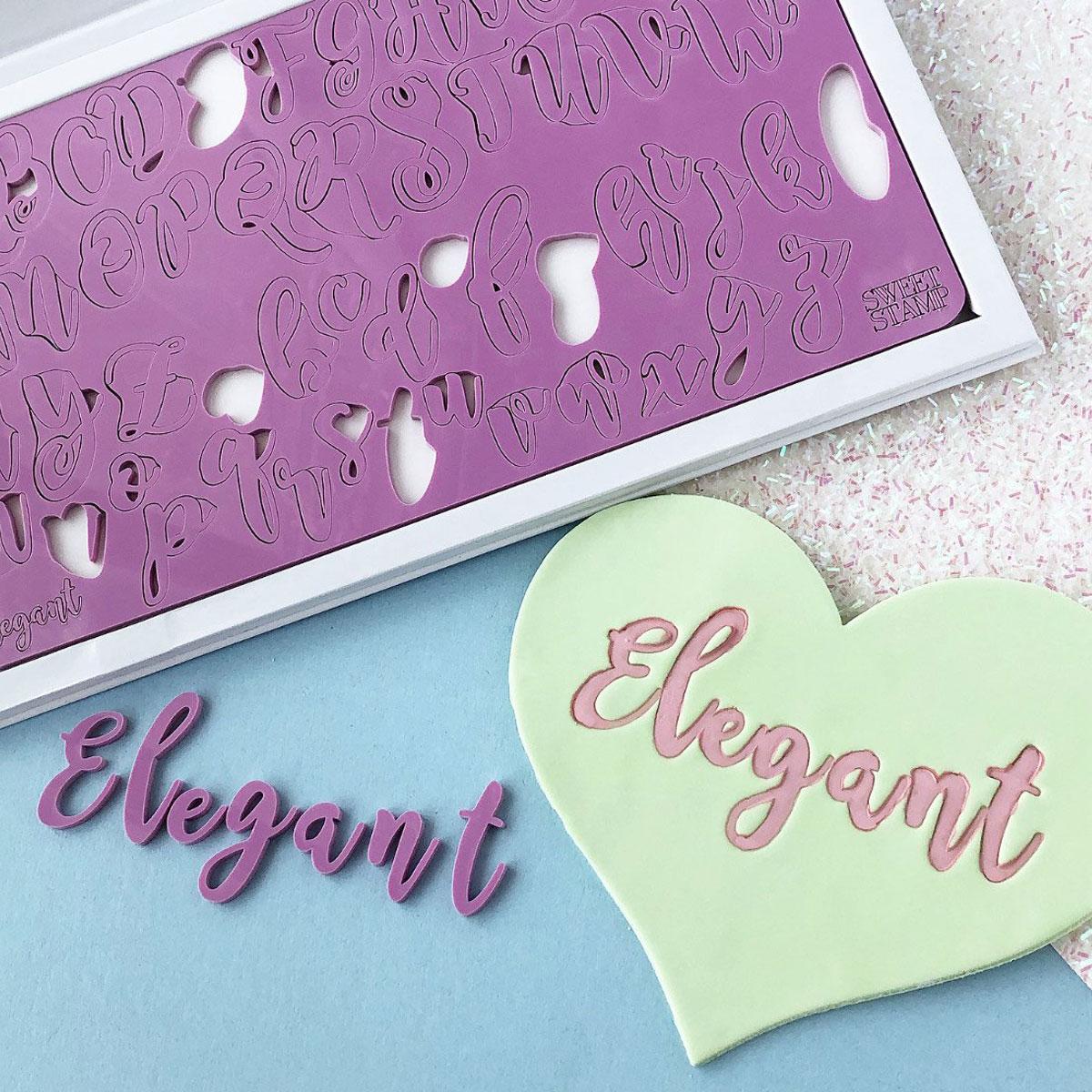 Sweet Stamp ELEGANT Prägeset - Groß-und Kleinbuchstaben