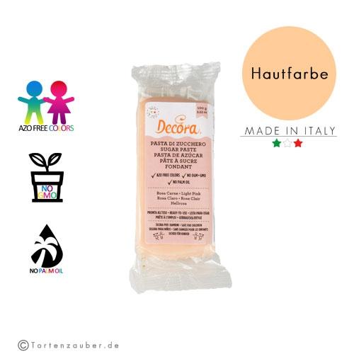 Decora Pasta di Zucchero - Fondant Hautfarbe 100g