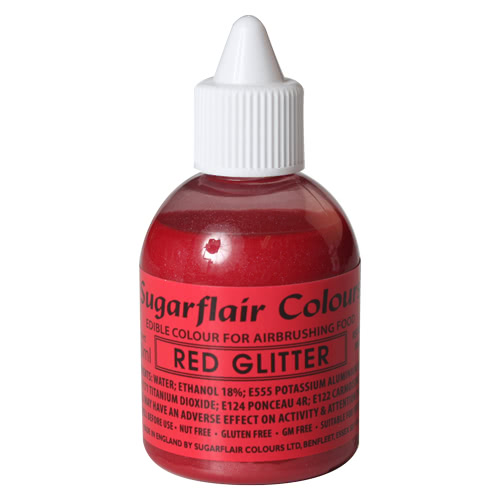 Sugarflair Airbrush Colouring - Glitter Red 60ml