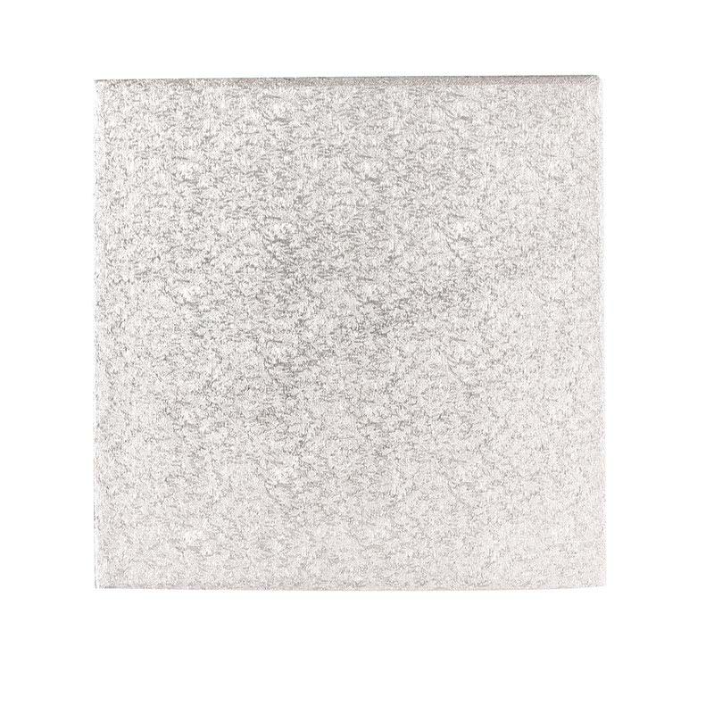 "Hardboard 10"" 25cm Quadrat Silber- 3mm dick"