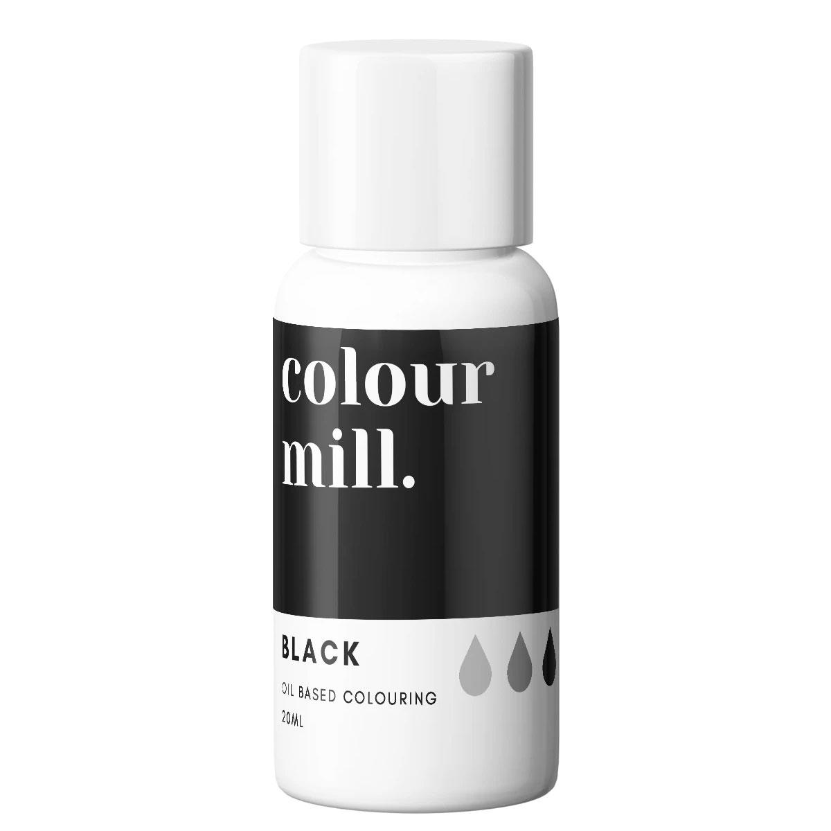 Colour Mill fettlösliche Lebensmittelfarbe - Black 20ml