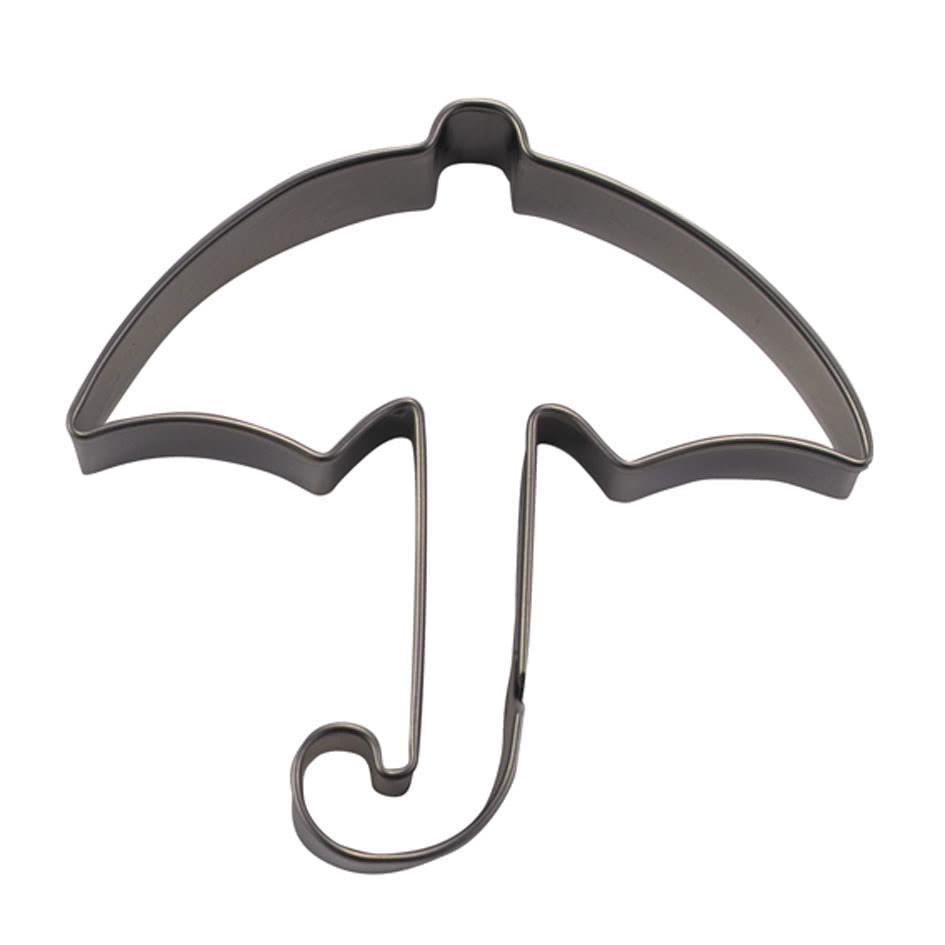 Ausstechform Schirm 8cm Edelstahl.