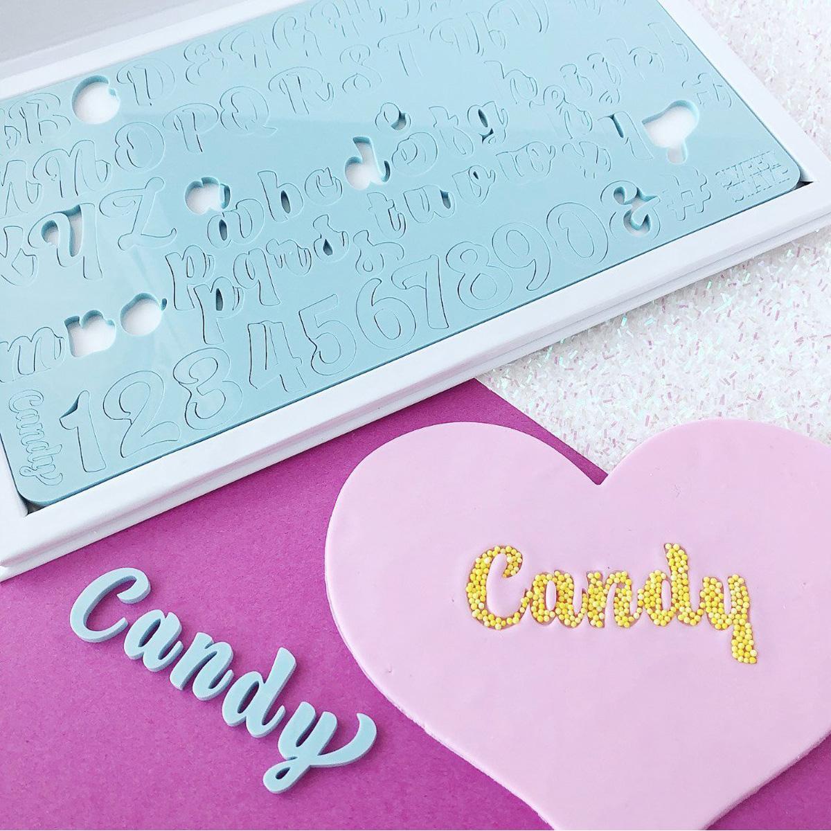 Sweet Stamp CANDY Prägeset - Groß-und Kleinbuchstaben