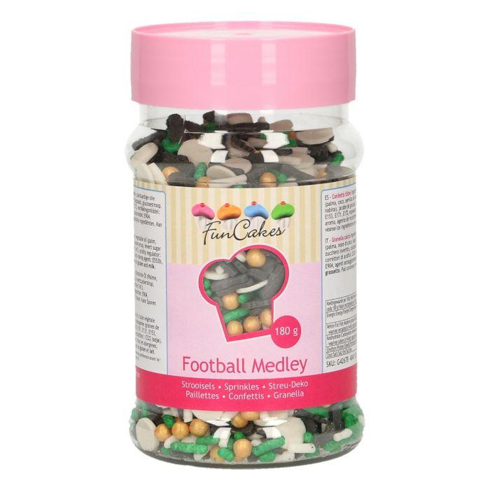Funcakes Zuckerdeko Medley - Fußball 180g