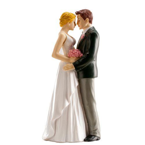 Dekorative Tortenfigur Hochzeitspaar - verliebt 16cm
