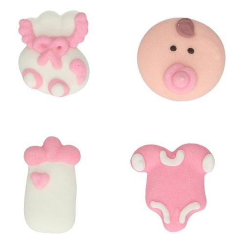 FunCakes Zuckerdekoration Baby Mädchen Set/8
