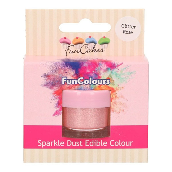 Funcakes Edible Sparkle Dust - Glitter Rose