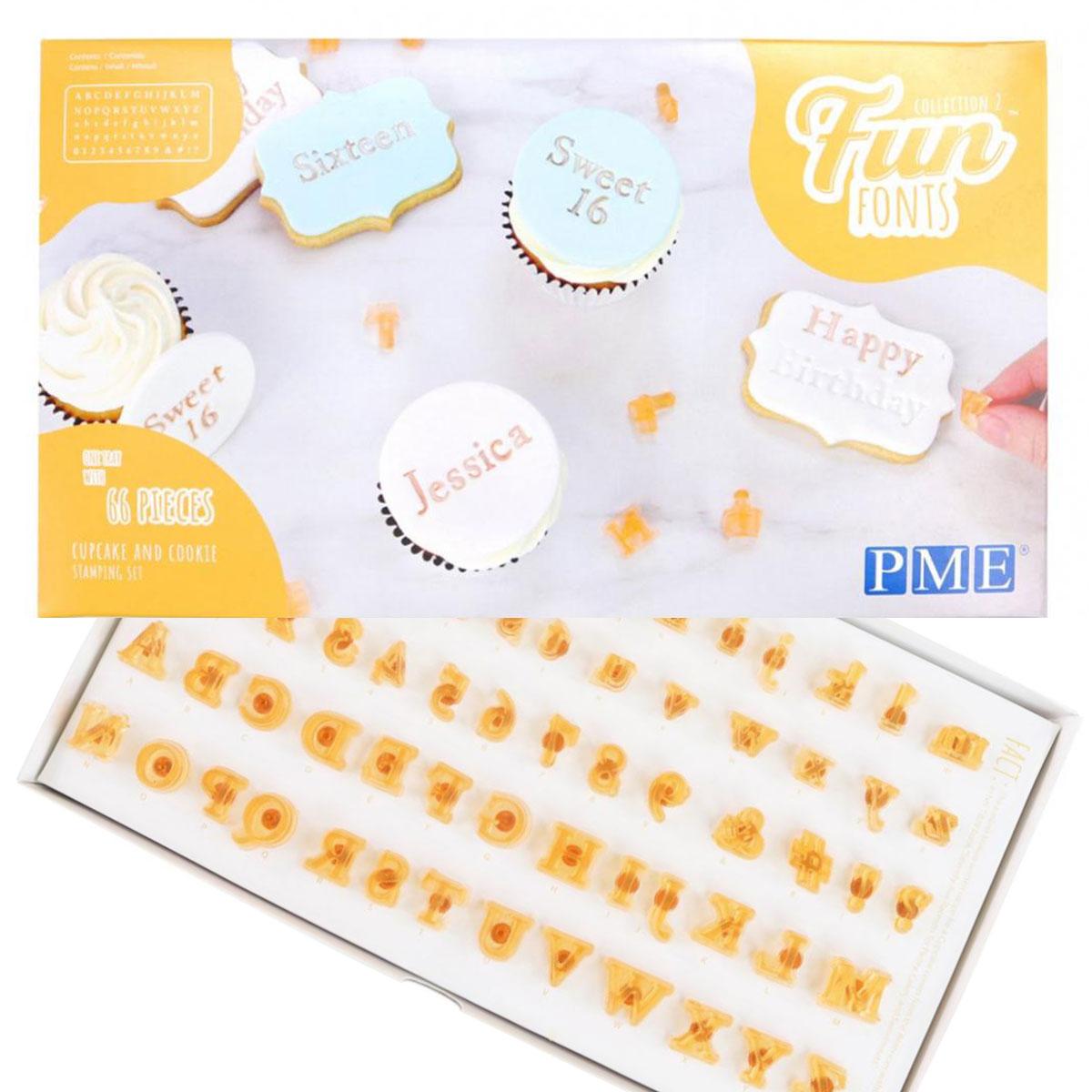 PME Fun Fonts Small für Cupcakes und Cookies Kollektion 2