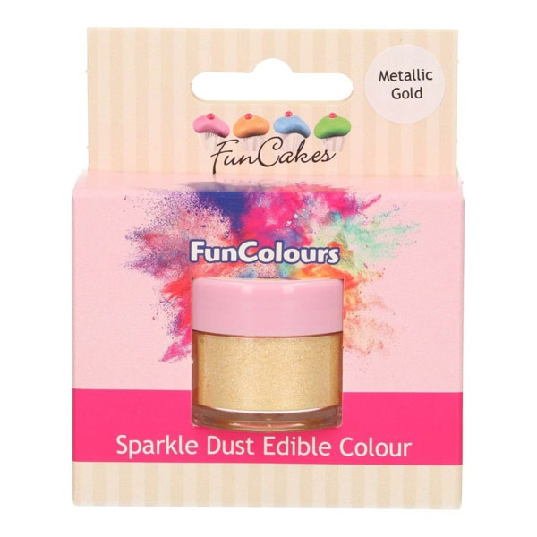 Funcakes Edible Sparkle Dust - Metallic Gold