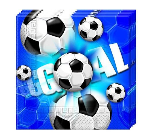 Servietten 33 x33 cm - Fußball 20 Stück