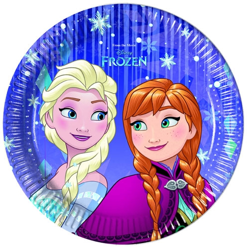 Pappteller Frozen Snowflakes 20cm