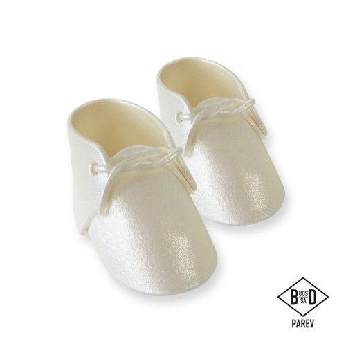 PME edible Cake Topper Large Baby Bootee - Pearl