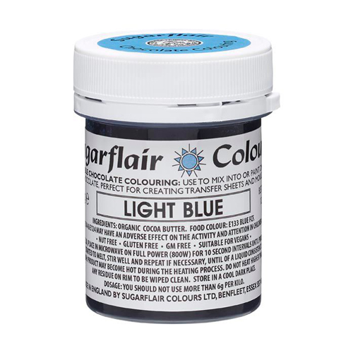 Sugarflair Chocolate Colouring - Schokoladenfarbe light Blue 35g