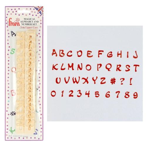 FMM Ausstecher Alphabet und Zahlen - Magical Upper Case