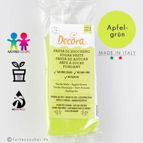 Decora Pasta di Zucchero - Fondant Apfelgrün 100g