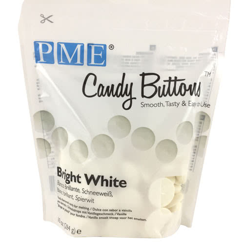 PME Candy Buttons – Bright White 284g