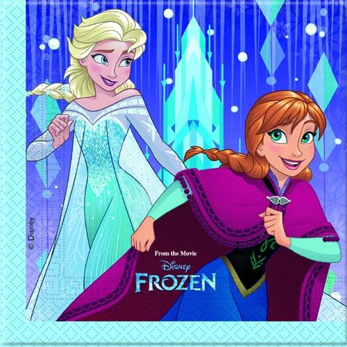 Servietten 33 x33 cm - Frozen Snowflake 20 Stück