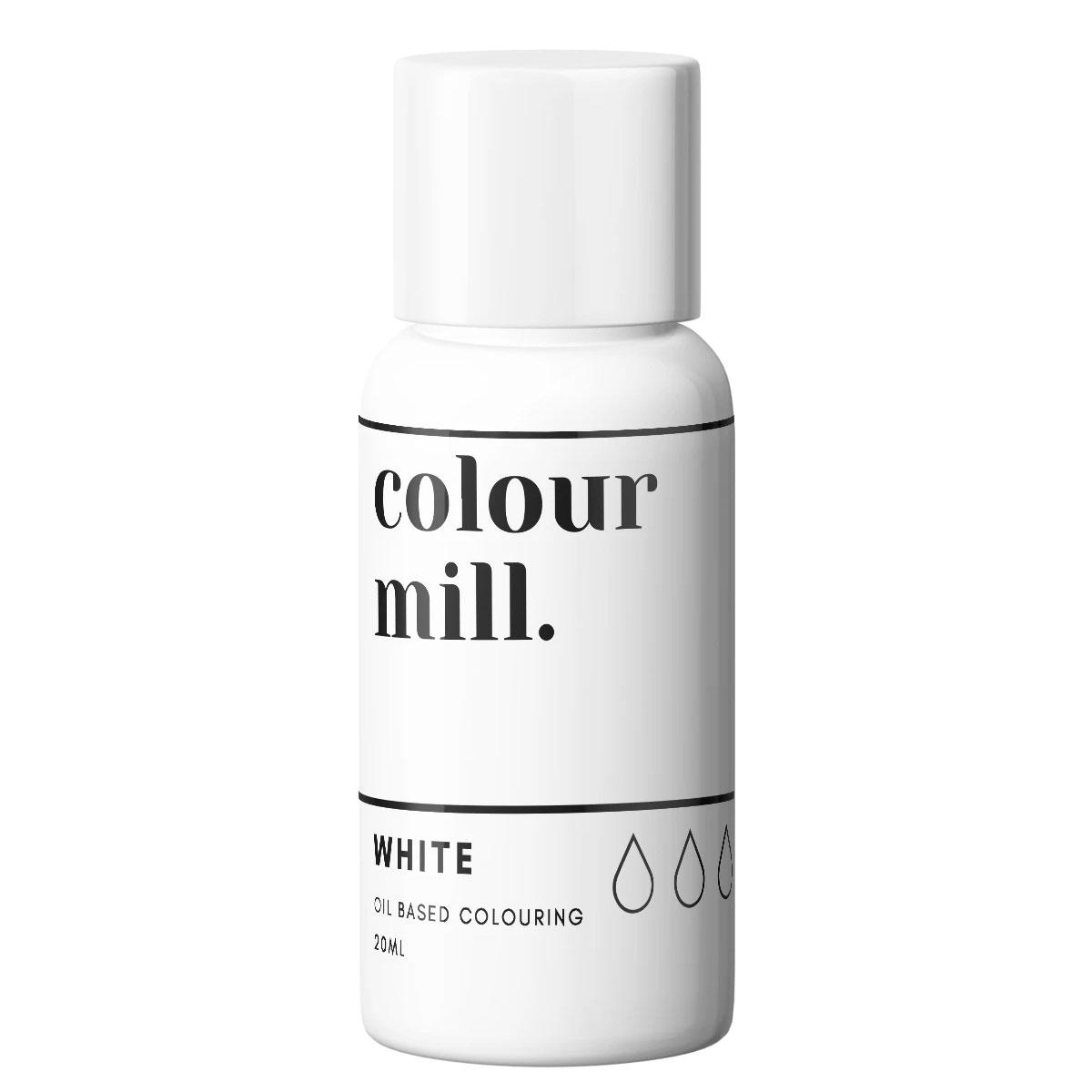 Colour Mill fettlösliche Lebensmittelfarbe - Weiß 20ml
