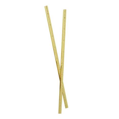 Ginger Ray Paper Straws - Strohhalm Gold 25 Stück