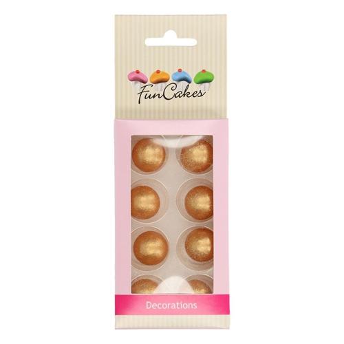 Funcakes Schokokugeln Pearl - Gold 8 Stück
