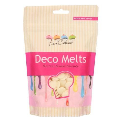 Funcakes Deko Melts - Vanilleweiss 250g
