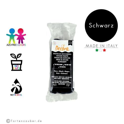 Decora Pasta di Zucchero - Fondant Schwarz 100g