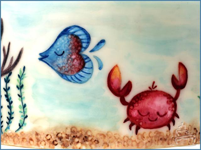 malen auf Fondant mit Pastenfarbe