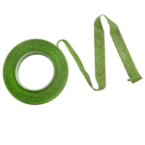 PME Floristikband - Grün mit Glitter