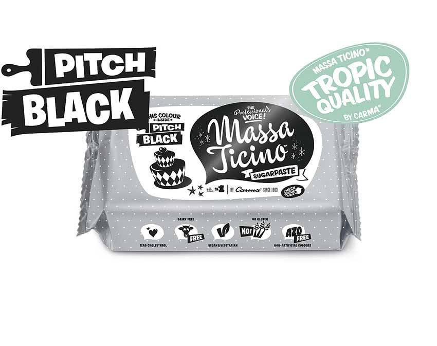 Massa Ticino Tropic – Rollfondant Pitch Black 250g