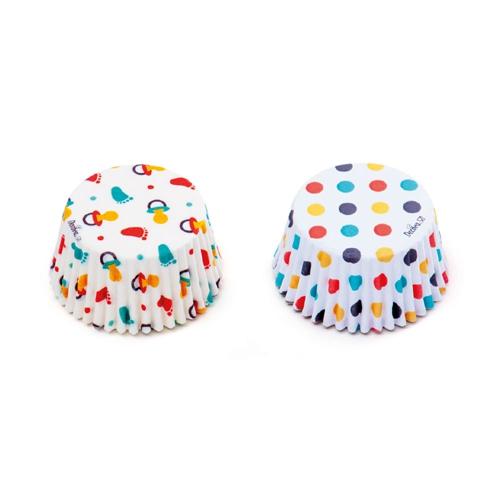 Decora Cupcake Papierbackförmchen Baby - Bunt 36 Stück