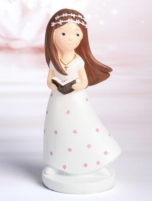 Dekorative Tortenfigur Kommunion - Mädchen mit Bibel