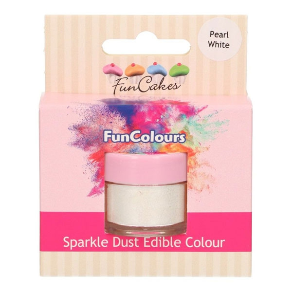 Funcakes Edible Sparkle Dust - Pearl White