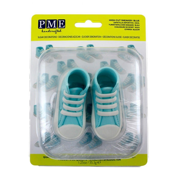 MHD 25/7/21 PME Edible Cake Topper High Cut Sneaker - Blue