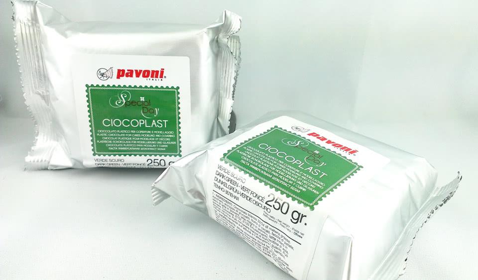 Modellierschokolade 250g dunkel grün