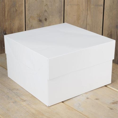 Funcakes Tortenschachtel 25x25x15cm - Weiss