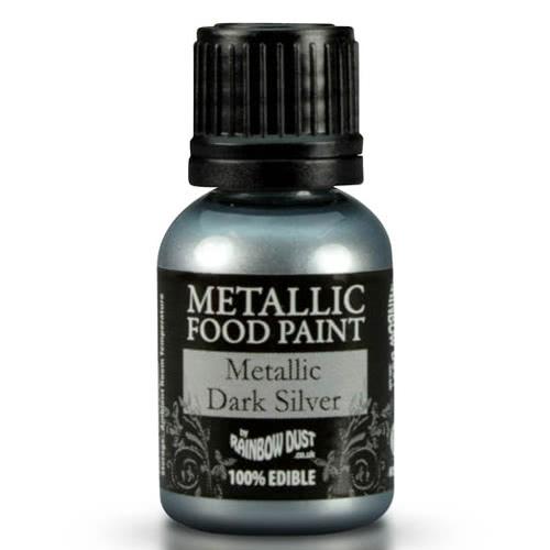 RD Edible Food Paints – Metallic Dark Silver