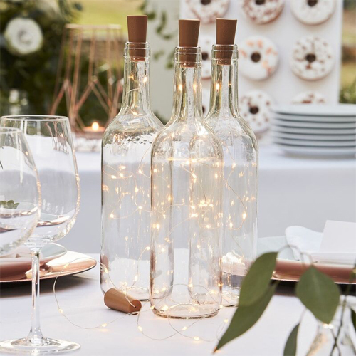 Ginger Ray LED Korkleuchten für Glasflaschen