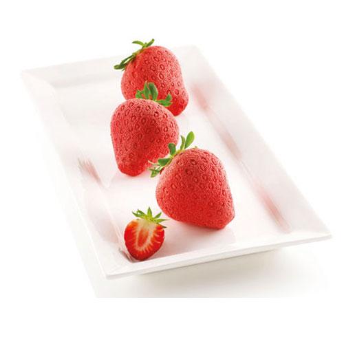 Silikomart Silikon- Backform 3D - Erdbeere