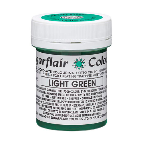 Sugarflair Chocolate Colouring - Schokoladenfarbe light Green 35g