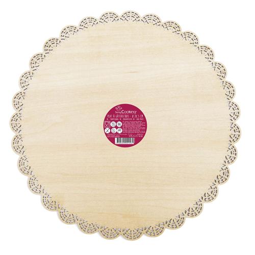 Scrapcooking Tortenplatte aus Holz 29cm