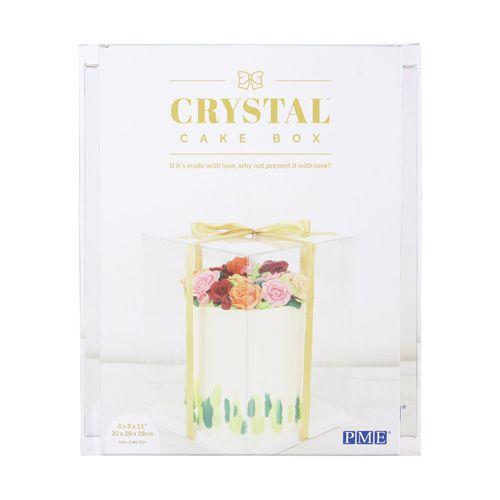 PME Crystal Cake Box 25x25x33cm