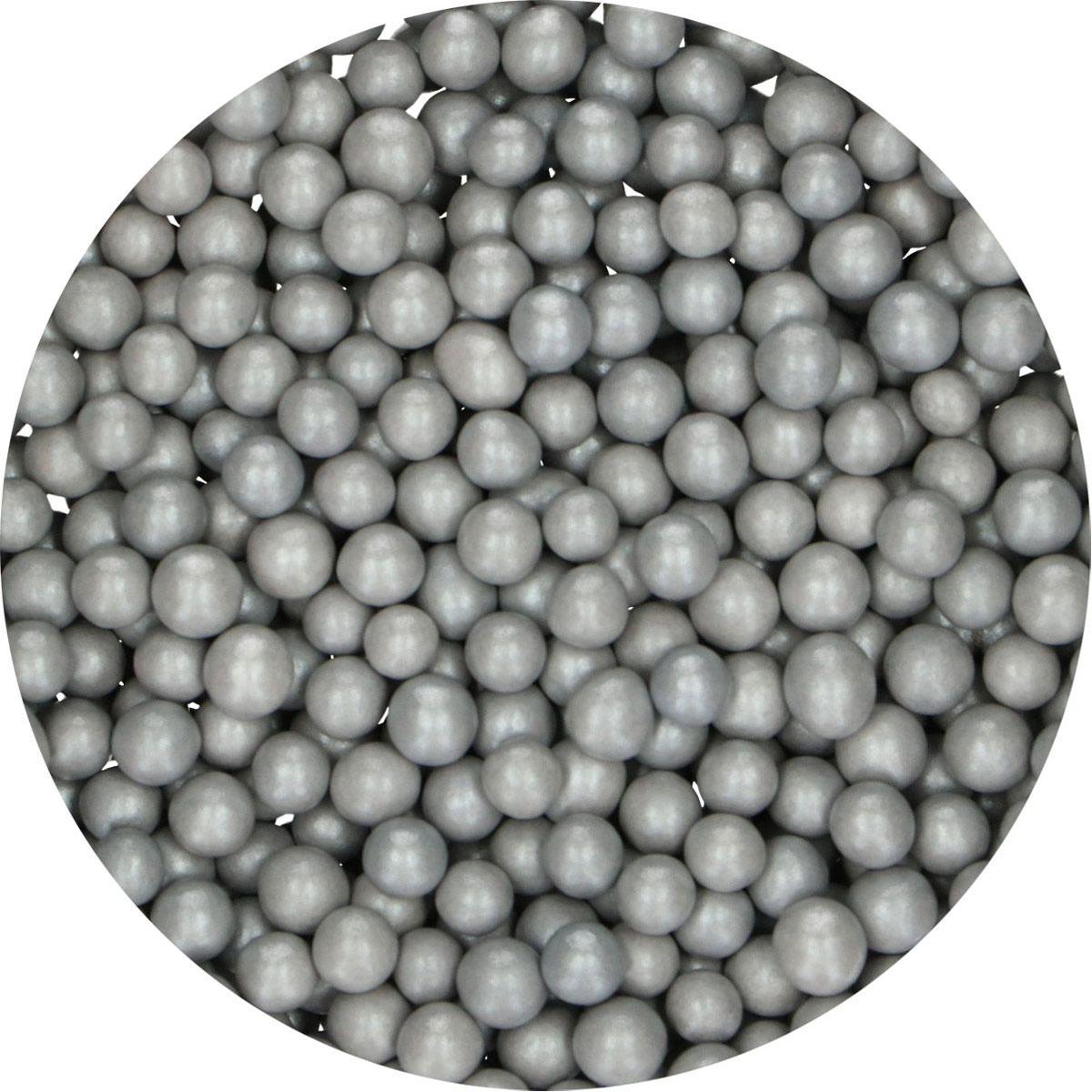 FunCakes Candy Choco Pearls Medium Silbergrau 80g