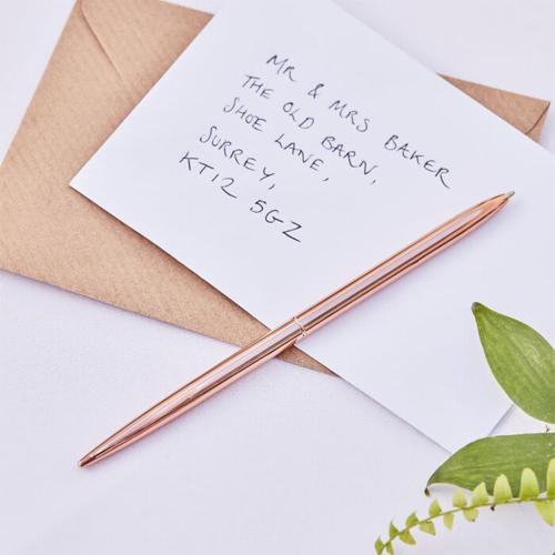 Ginger Ray Kugelschreiber mit schwarzer Tinte - Rosegold