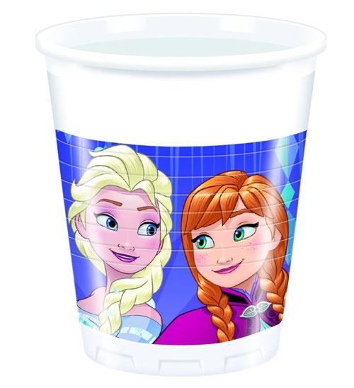 Plastikbecher Frozen - Snowflake 8 Stück