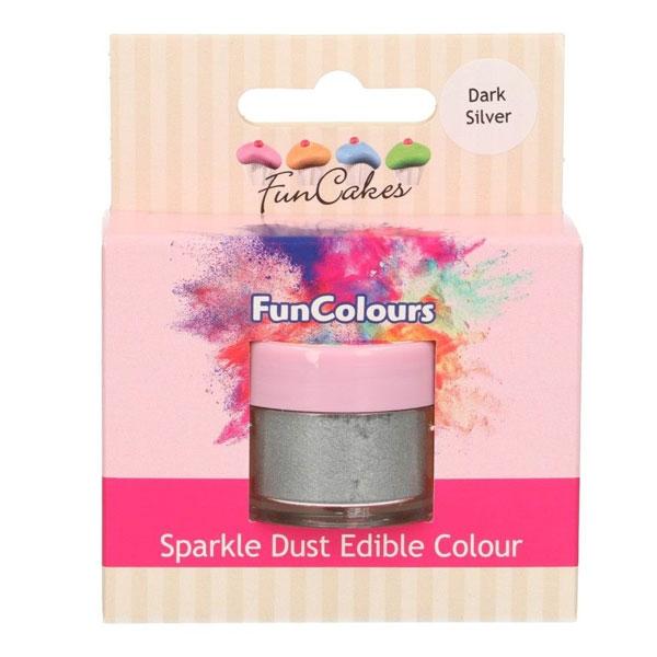 Funcakes Edible Sparkle Dust - Glitter Dark Silver