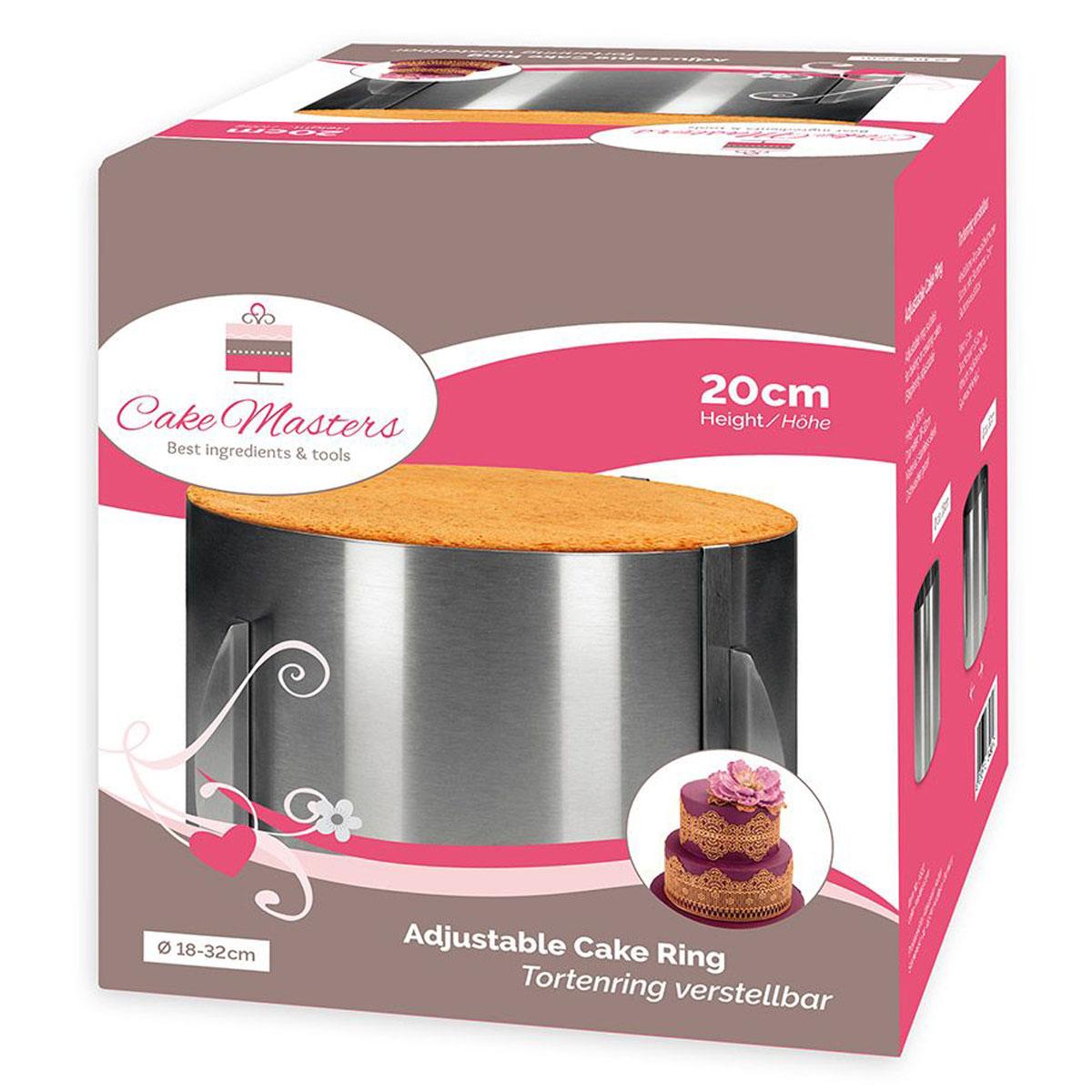 Cake Masters Tortenring 18-32cm - 20cm hoch